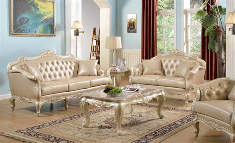 Antique White Living Room Furniture Traditional Antique White Formal Sofa Set With Nail Accents Rpcmo62