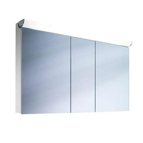 schneider mirrored bathroom cabinet schneider faceline 3 door illuminated mirror cabinet 1300mm