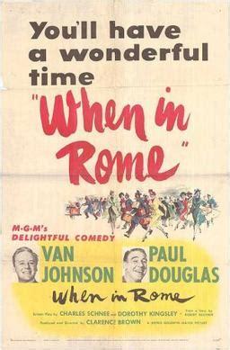 When in Rome (1952 film) - Wikipedia K 11 Poster