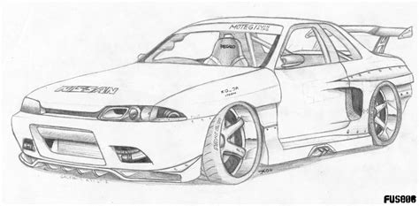 nissan skyline drawing outline how to draw skyline car