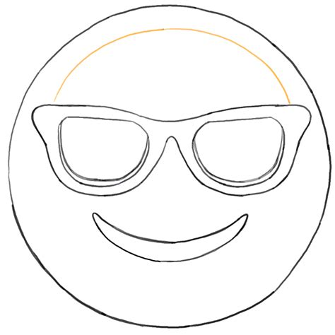 coloring pages with glasses sunglass emoji faces coloring pages sketch coloring page