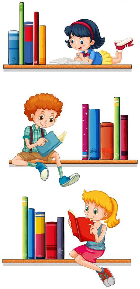 estantes para libros gratis ni 241 os lectura libros estantes descargar vectores premium