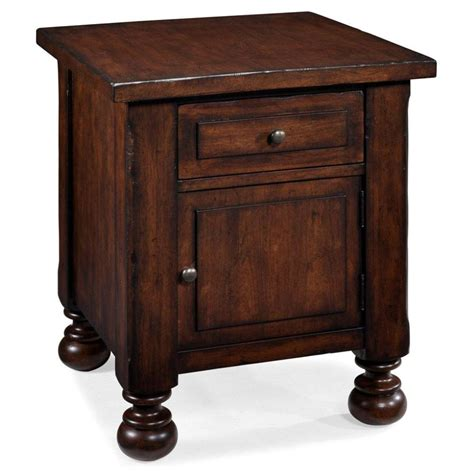 Wooden End Tables Lewiston Wood Storage End Table End Tables