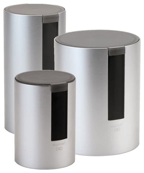 contemporary kitchen canister sets berghoff international inc neo 3 canister set kitchen canisters and jars houzz
