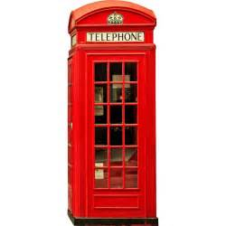 Wall Stickers Decor Modern english phone booth wall decal kerstee