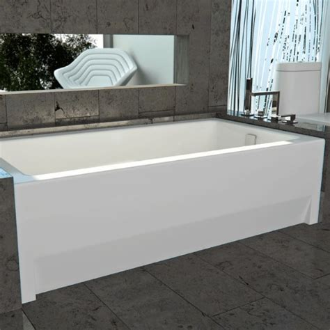 2 wall bathtub alcove tub bathtub with skirt flange for 3 wall alcove