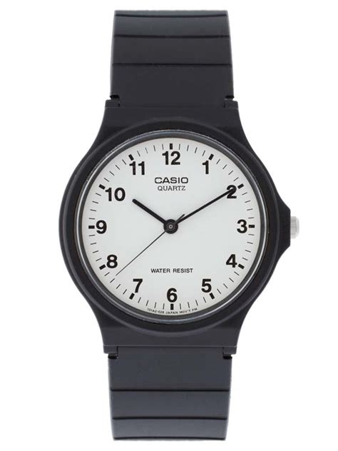 Unisex Black Rubber casio unisex black rubber mq 24 7bll