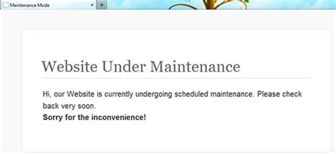 maintenance mode html template how to put your website in maintenance mode
