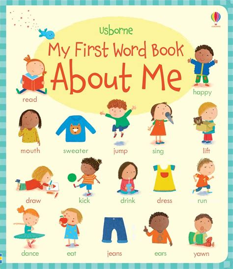 words and pictures book my word book about me at usborne children s books
