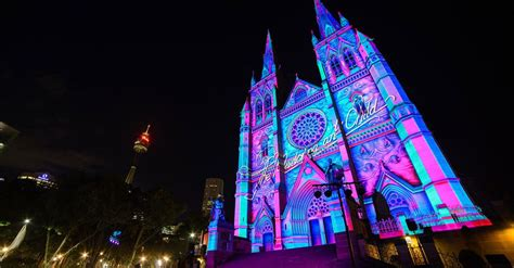 stunning christmas projections on sydney landmarks are a