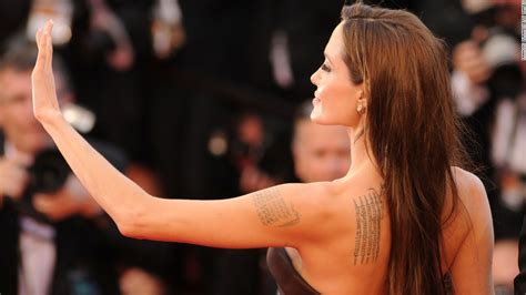 angelina jolie geographical tattoo face and neck tattoos not widely accepted cnn