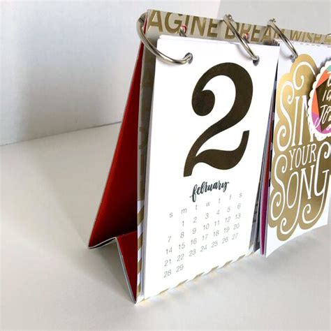 diy desktop calendar craft diy 2016 desk calendar me my