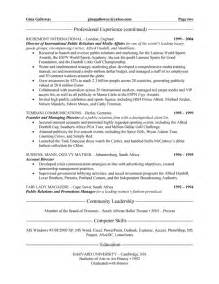 relations executive resume exle