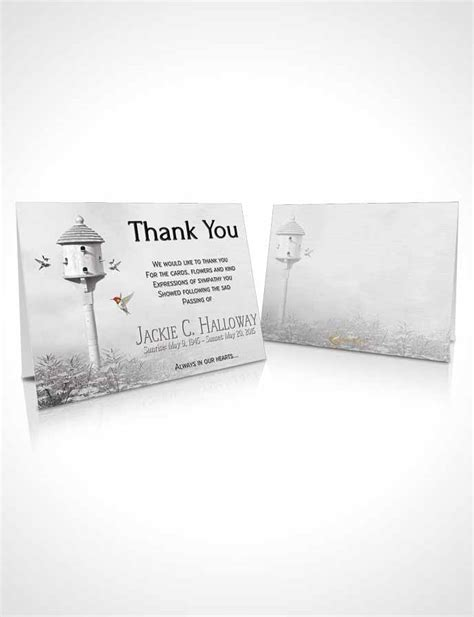 Thank You Cards Funeral Template by Bifold Order Of Service Obituary Template Brochure Free