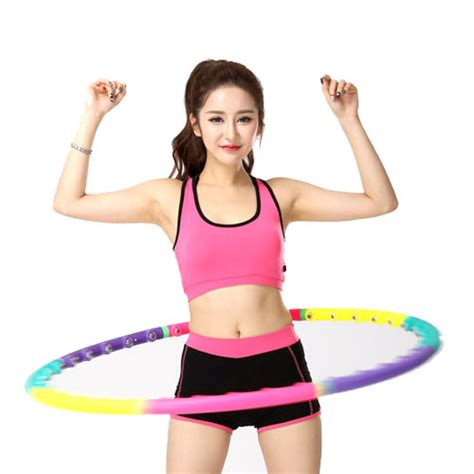 new hula hoop magnetic therapy hula hoop slim abdominal exercise c581 ebay