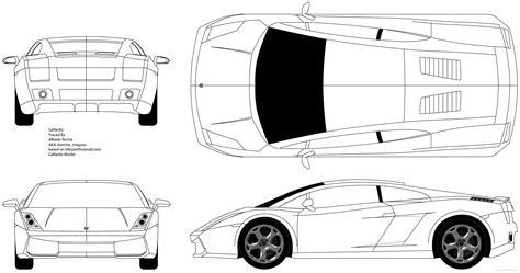 create a blueprint free car tutorial pt 1 blueprints gallardo in blender on vimeo