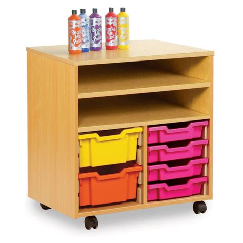 shelf storage with 8 shallow or 4 trays