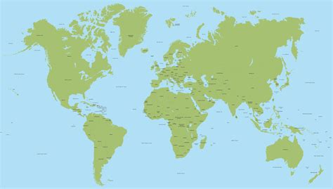 on a world map vector world map with all countries 2016 maproom