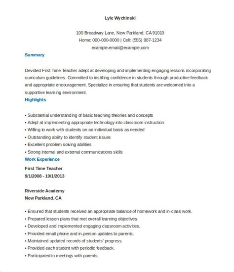 26 teacher resume templates free sle exle format