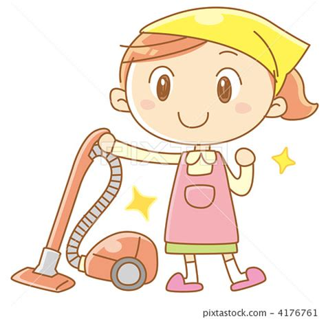 vacuum cleaner apron appliance stock illustration
