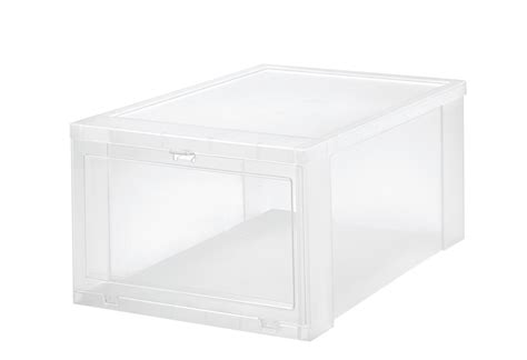 iris drop front shoe box iris drop front 6 set shoe box large clear clear
