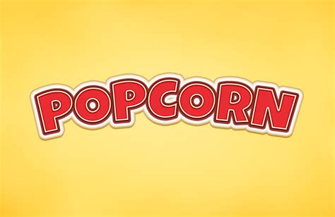 popcorn logo popcorn text effect graphicburger