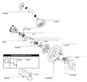 Kohler Kitchen Faucet Repair Parts moen 82496brb parts list and diagram ereplacementparts com