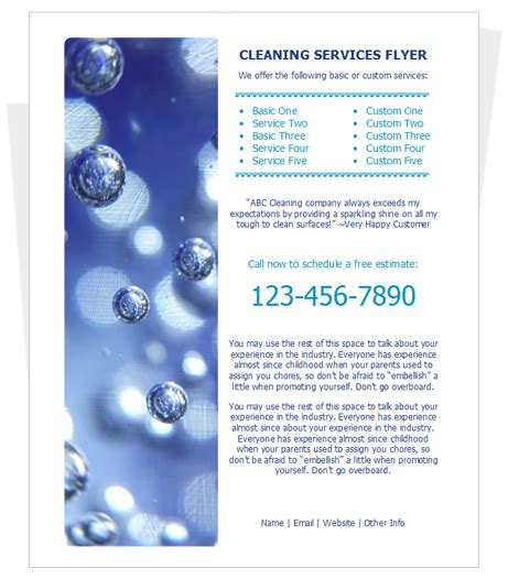 cleaning services advertising templates 10 best images of writable cleaning services flyer