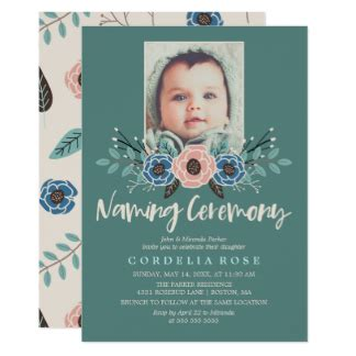invitation cards for baby naming ceremony in baby naming invitations announcements zazzle