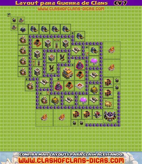 Layout Vila Cv 7 | layouts de cv 7 para guerra de clans clash of clans