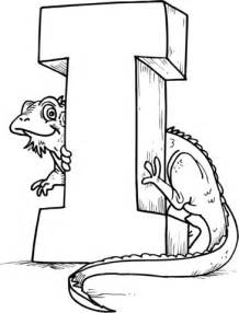 que empiecen con i colouring pages letter i is for iguana coloring page free printable