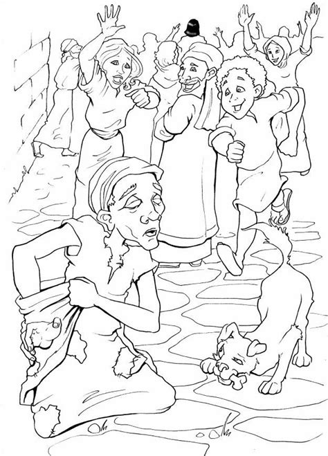 free coloring pages of blind bartimeus