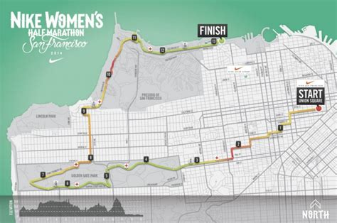 san francisco race map new course for nike s half marathon san francisco