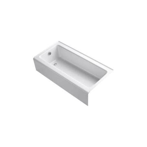 bellwether bathtub kohler bellwether 5 ft left drain bathtub with integral apron in white k 837 0 the