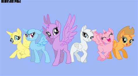 my little pony mane 6 base mane 6 base by dewysartpage on deviantart
