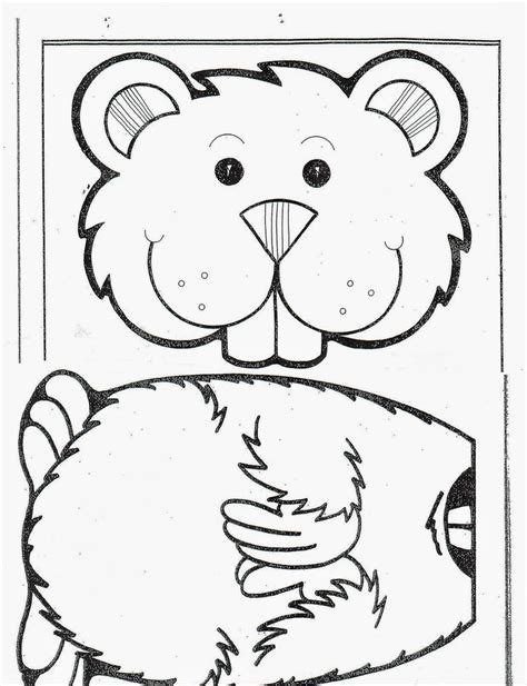 groundhog template colors and kindergarten february 2014
