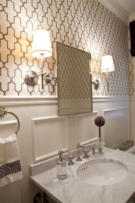 designer bathroom wallpaper beautiful home with stylish interiors home bunch