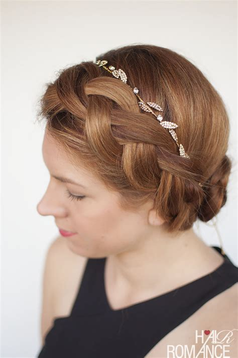 formal hairstyles with headbands try this diy braided updo for your next formal event or