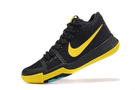 black nike basketball shoes nike kyrie 3 black yellow basketball shoes jordans 2017
