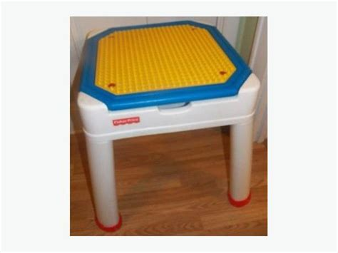 Toddler Table Chairs Vintage Fisher Price Lego Table Multi Purpose Activity