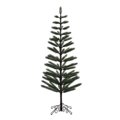 vickerman 379172 7 x 30 quot green feather christmas tree