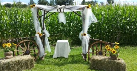 Wedding Arbor With Tulle by Wedding Arbor Decorated With Tulle And Sunflowers