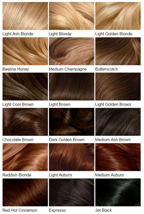 hair color chart hair color charts know your next shade hairstylo