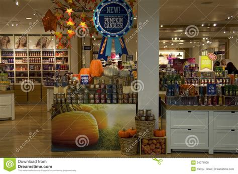 decoration stores candles halloween decorations store editorial stock photo