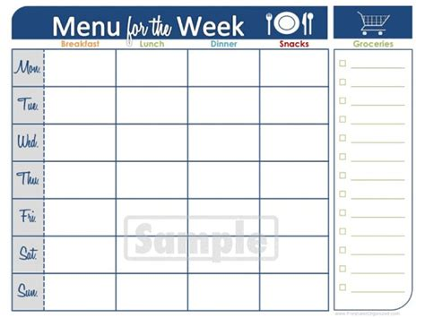 blank meal planner sheets diabetes menu planner weekly newhairstylesformen2014 com
