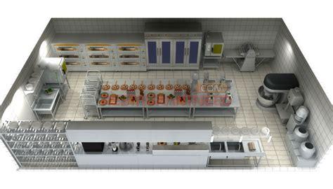 Pizza Shop Floor Plan by Profissionais De Design 3d Projeto Padaria Industrial