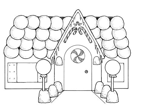 Free Gingerbread House Coloring Pages free printable house coloring pages for