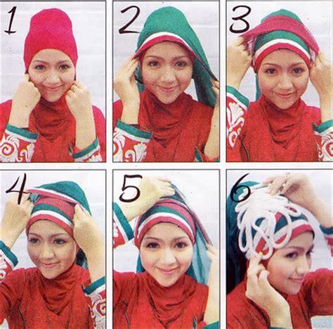 tutorial hijab turban segi empat 2 warna tutorial hijab untuk kebaya modern terbaru