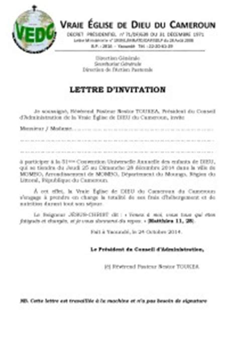 Exemple De Lettre D Invitation Canada Modele Invitation Professionnelle Pour Visa Document