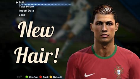 download hairstyles pes 2013 pes 2013 cristiano ronaldo new hairstyle youtube